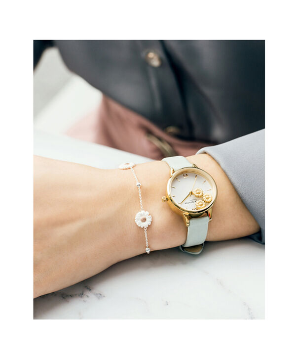 OLIVIA BURTON LONDON  Dancing Daisy Sage & Gold OB16CH17 – Big Dial Round in Gold - Other view