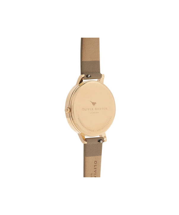 OLIVIA BURTON LONDON  White Dial Sand & Gold OB16BDW35 – Midi Dial Round in Rose Gold - Back view