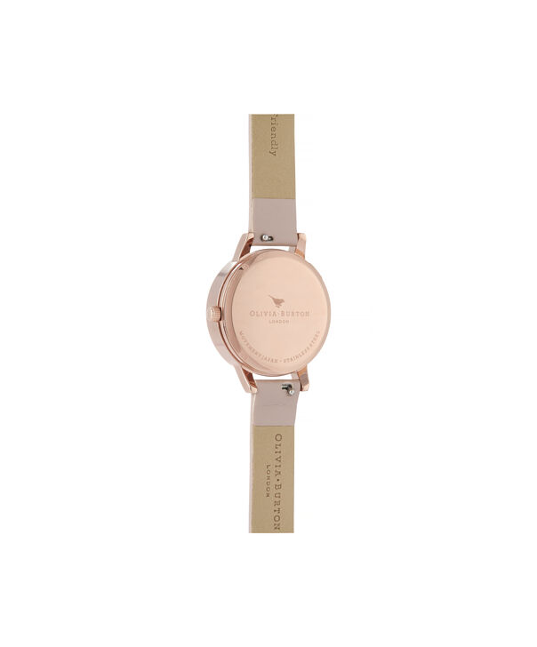 OLIVIA BURTON LONDON Wishing Watch Midi Vegan Rose Sand & Rose GoldOB16SG04 – Midi Dial in Pink and Rose Gold - Back view