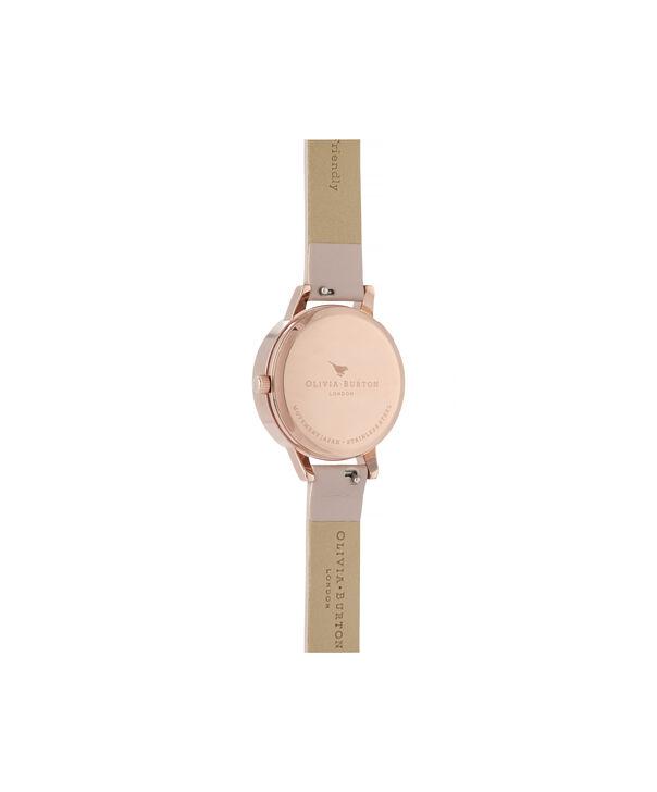 OLIVIA BURTON LONDON Wishing Watch Midi Vegan Rose Sand & Rose GoldOB16SG04 – Midi Dial in Pink and Rose Gold - Back view