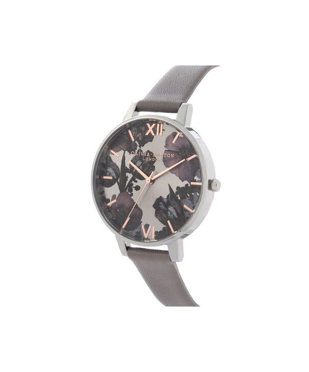 OLIVIA BURTON LONDON Twilight Sunray Big Dial WatchOB16TW05 – Big Dial in grey and Silver & Rose Gold - Side view