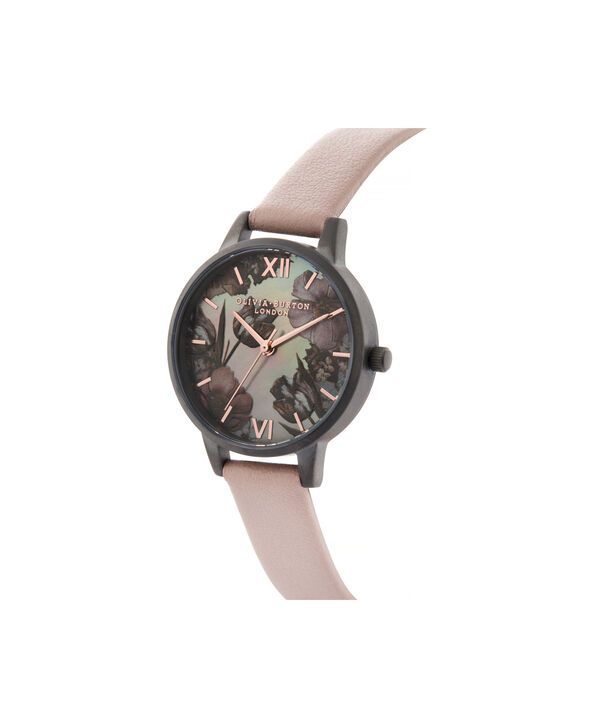 OLIVIA BURTON LONDON Twilight Midi Dial Watch with Grey Mother-Of-PearlOB16TW04 – Midi Dial in pink and Gunmetal - Side view