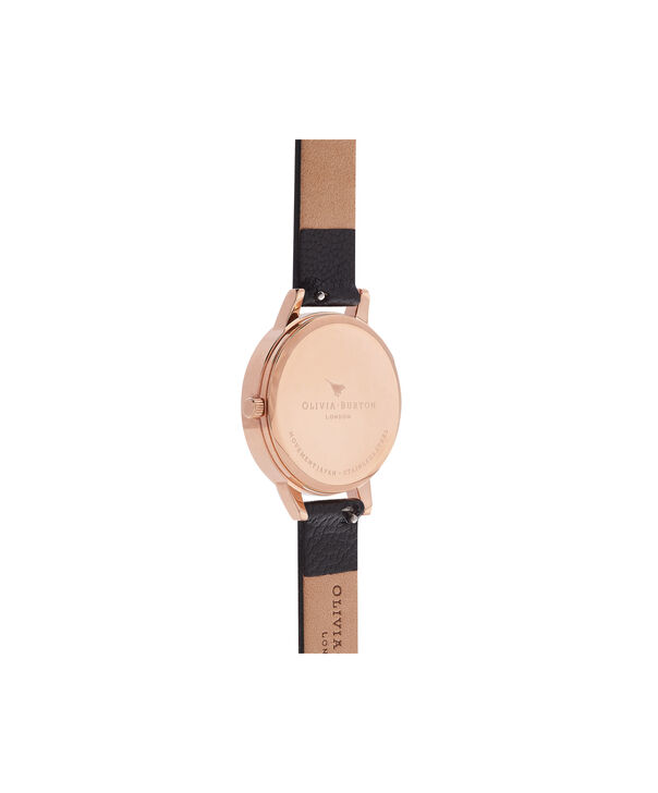 OLIVIA BURTON LONDON  Midi Dial Black And Rose Gold Watch OB16MD83 – Midi Dial Round in Rose Gold and Mink - Back view