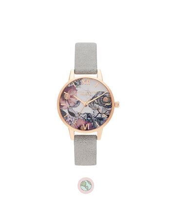 OLIVIA BURTON LONDON Eco Friendly Grey, & Rose GoldOB16VM24 – Eco Friendly Grey, & Rose Gold - Front view