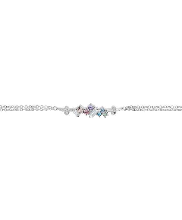 OLIVIA BURTON LONDON Rainbow Bee Chain Bracelet SilverOBJAMB81 – Rainbow Bee Chain Bracelet Silver - Side view