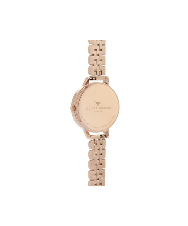 OLIVIA BURTON LONDON White Dial Demi Dial WatchOB16DEW01 – Demi Dial in rose gold and Rose Gold - Back view