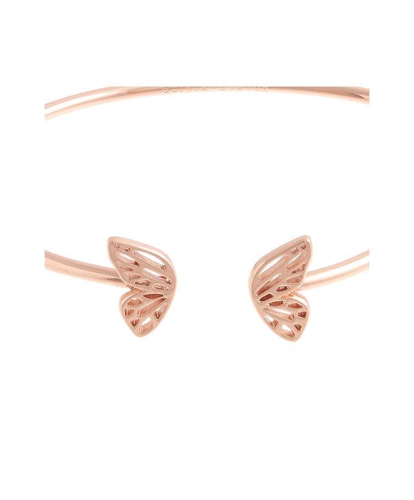 OLIVIA BURTON LONDON Butterfly Wing Bangle Rose Gold OBJ16EBB05 – Butterfly Wing Bangle - Side view