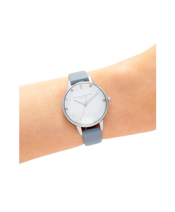 OLIVIA BURTON LONDON The Wishing Watch Vegan Chalk Blue & SilverOB16SG07 – The Wishing Watch Vegan Chalk Blue & Silver - Other view
