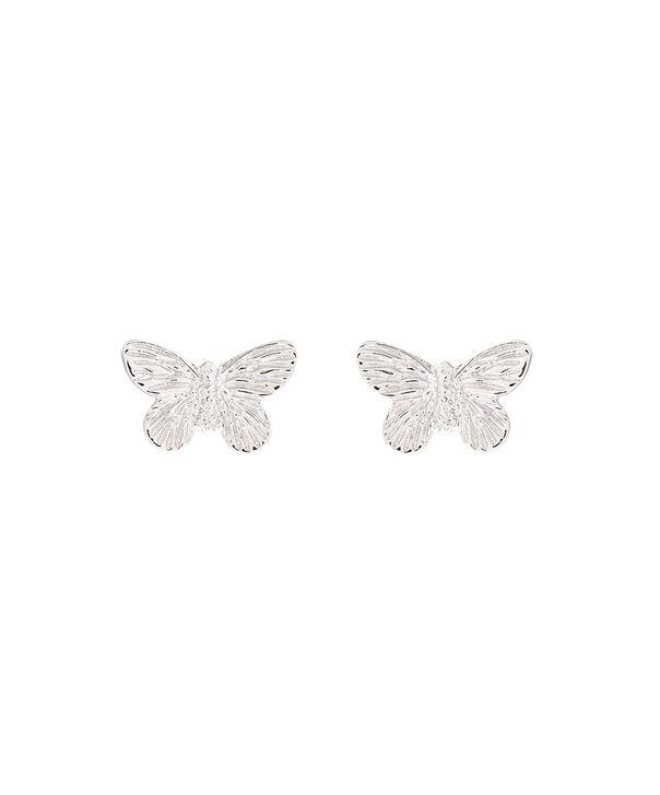 OLIVIA BURTON LONDON 3D Butterfly Stud Earrings SilverOBJ16MBE03 – 3D Butterfly Stud Earrings - Front view