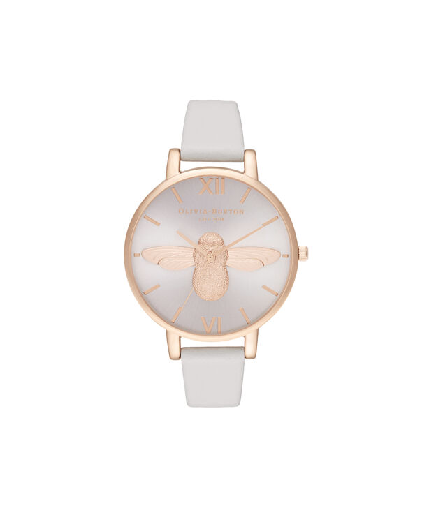 OLIVIA BURTON LONDON 3D Bee Big Dial Blush Sunray Blush & Rose GoldOB16AM158 – Demi Dial In Pink And Rose Gold - Front view