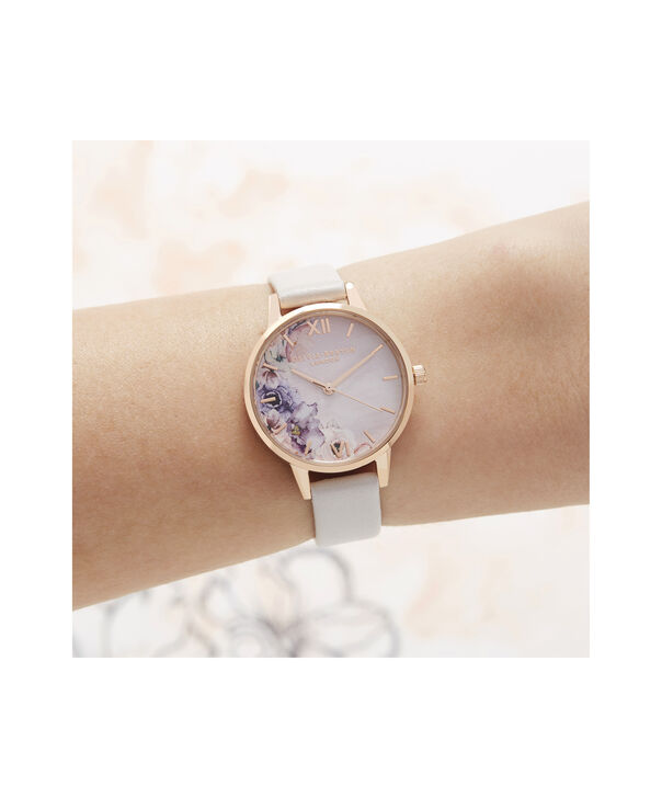 OLIVIA BURTON LONDON Watercolour Florals Midi Dial WatchOB16PP54 – Midi Dial in pink and Rose Gold - Other view