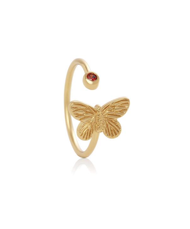 OLIVIA BURTON LONDON 3D Bejewelled Butterfly Gift Set Gold & Red CrystalOBJGSET28 – Bracelet in Gold - Back view