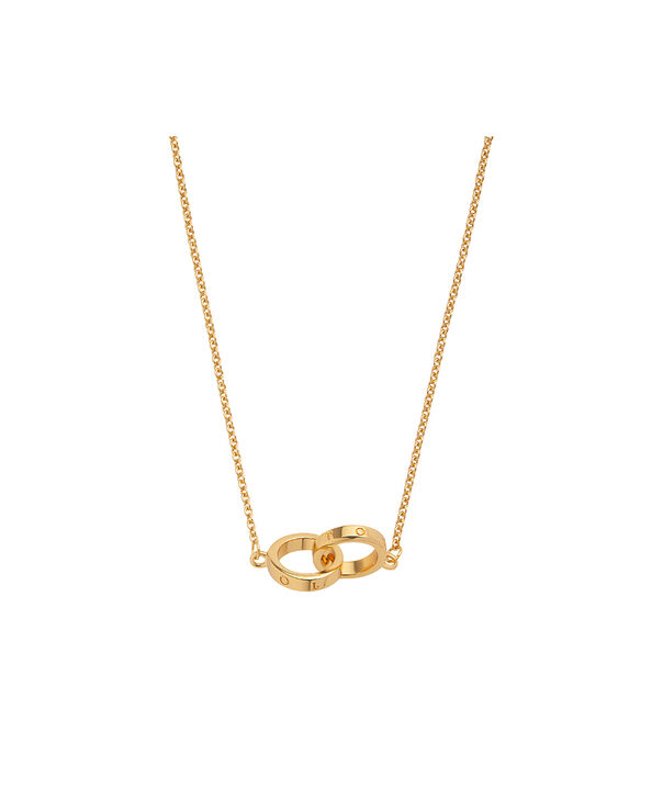 OLIVIA BURTON LONDON Interlink Necklace GoldOBJ16ENN56 – Interlink Necklace Gold - Side view