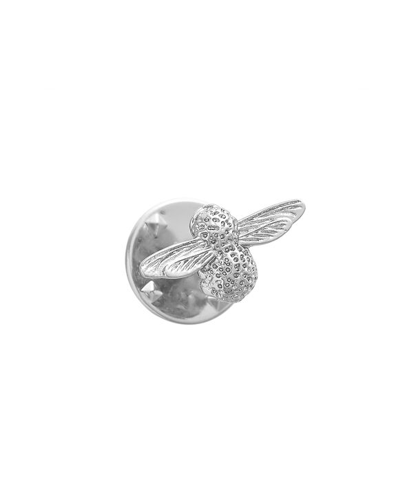 OLIVIA BURTON LONDON  Silver Bee Pin  OBPIN03 – Bee Pin in Silver - Back view