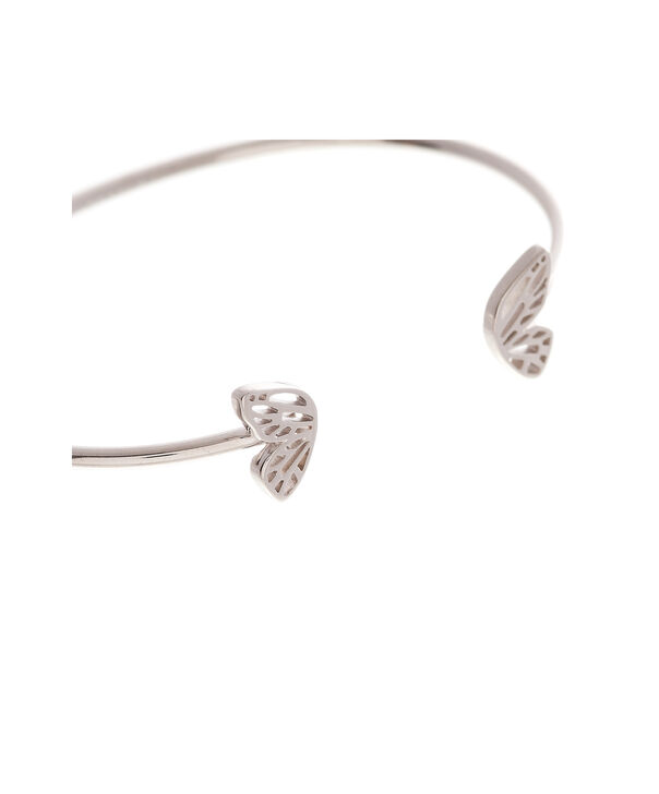 OLIVIA BURTON LONDON Butterfly Wing Bangle Silver OBJ16EBB06 – Butterfly Wing Bangle - Side view