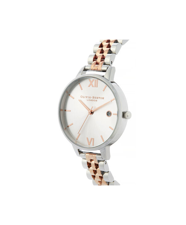 OLIVIA BURTON LONDON Sunray Demi Dial WatchOB16DE06 – rose gold and Silver & Rose Gold - Side view