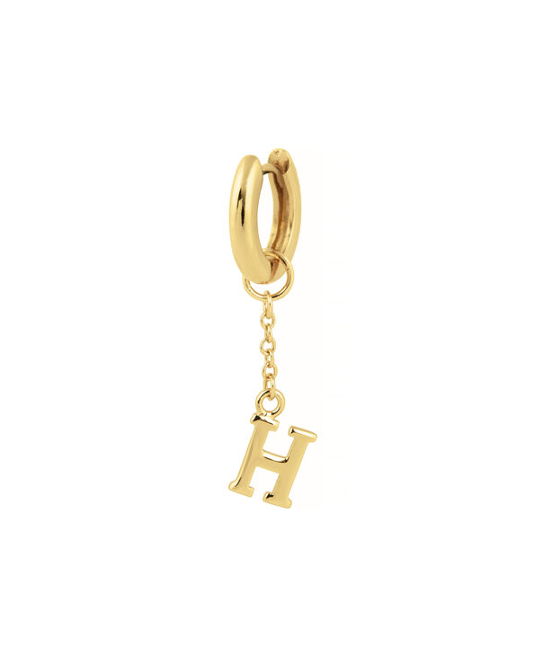 OLIVIA BURTON LONDON  H Alphabet Huggie Charm Gold OBJ16HCGH – Charms - Side view