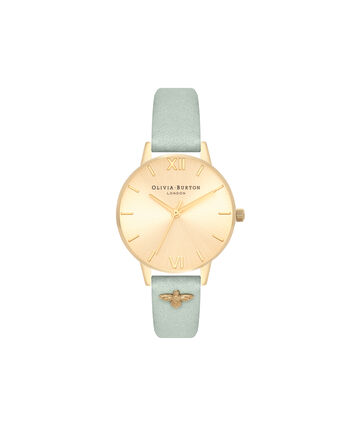 OLIVIA BURTON LONDON Embellished StrapOB16ES17 – Midi Dial Round in Gold - Front view