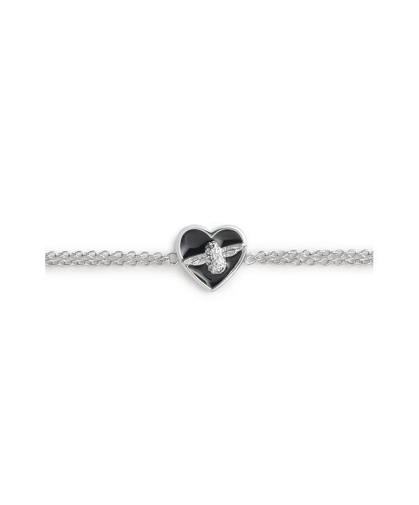 OLIVIA BURTON LONDON Love Bug Chain Bracelet Black & SilverOBJLHB06 – SHOPBAG_LABEL - Side view