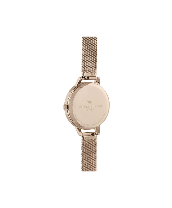 OLIVIA BURTON LONDON Demi White Dial Pale Rose Gold MeshOB16DE10 – Demi Dial In Rose Gold And Rose Gold - Back view