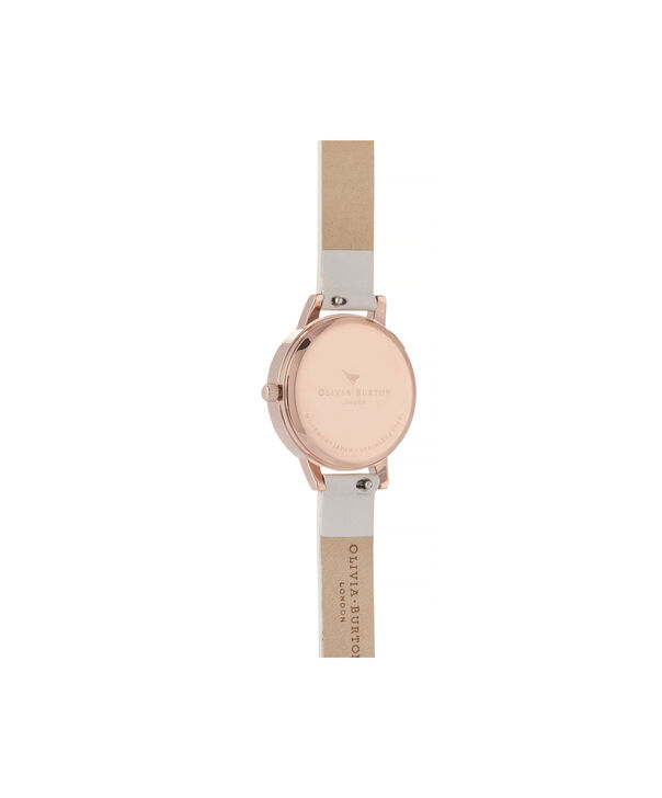 OLIVIA BURTON LONDON Watercolour Florals Midi Dial WatchOB16PP54 – Midi Dial in pink and Rose Gold - Back view