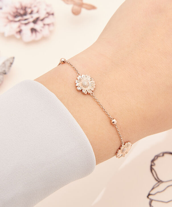 OLIVIA BURTON LONDON  Daisy Chain Bracelet Rose Gold OBJ16DAB07 – 3D Daisy Chain Bracelet - Other view