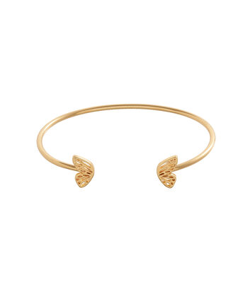 OLIVIA BURTON LONDON Butterfly Wing Bangle Gold OBJ16EBB04 – Butterfly Wing Bangle - Front view
