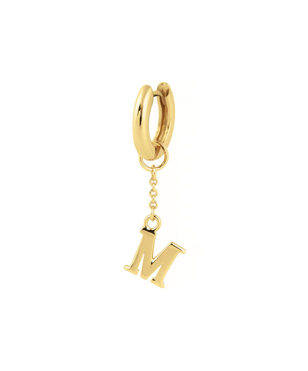OLIVIA BURTON LONDON  M Alphabet Huggie Charm Gold OBJ16HCGM – Charms - Side view