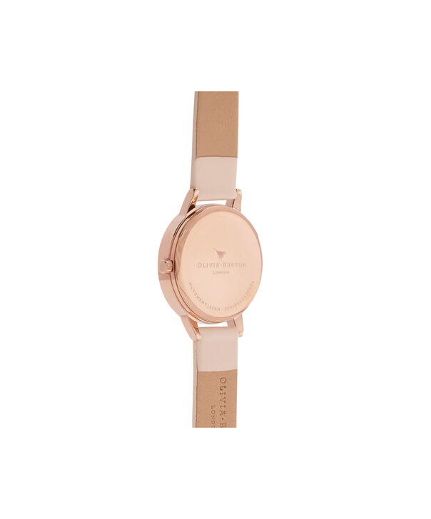 OLIVIA BURTON LONDON  Midi Dial Nude Peach, Silver & Rose Gold Watch OB16MDW21 – Midi Dial Round in White and Peach - Back view