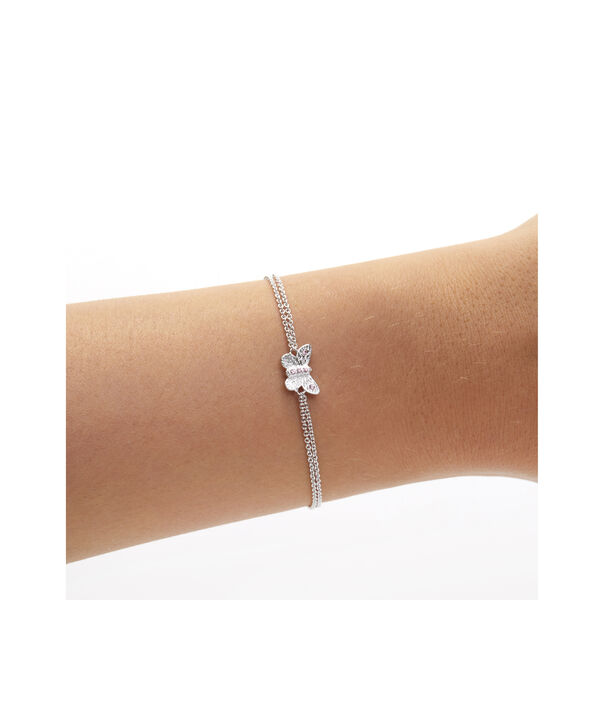 OLIVIA BURTON LONDON Bejewelled Butterfly Chain Bracelet Silver & Pink StoneOBJ16MBB05 – Chain Bracelet in  and Silver - Other view