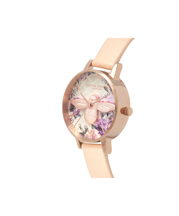 OLIVIA BURTON LONDON  Glasshouse Nude Peach & Rose Gold OB16EG98 – Midi Dial Round in Nude and Rose Gold - Side view