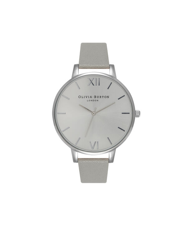 4bdd8d1df OLIVIA BURTON LONDON Big Dial Grey And Silver Watch OB15BD57 – Big Dial  Round in Silver ...