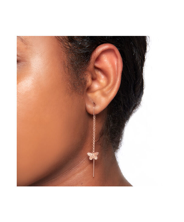 OLIVIA BURTON LONDON 3D Butterfly Threader Earrings Rose GoldOBJMBE09 – Earrings in Rose Gold - Other view