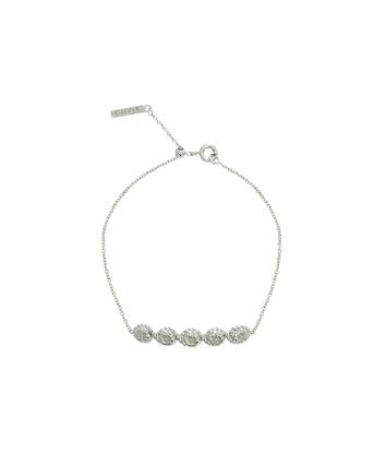 OLIVIA BURTON LONDON Floral CharmOBJ16FSB12 – Floral Charm Chain Bracelet - Front view