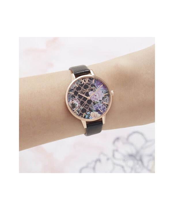 OLIVIA BURTON LONDON Glasshouse Demi Dial WatchOB16GH11 – Demi Dial in black and Rose Gold - Other view