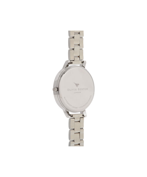 OLIVIA BURTON LONDON  Big Dial White Dial Silver & Gold Bracelet Watch OB16BL45 – Big Dial in White, Silver and Gold - Back view