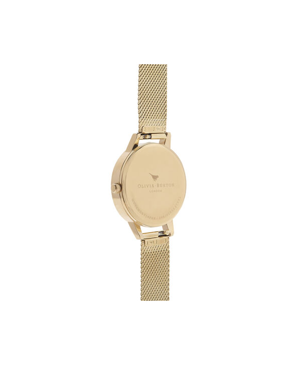OLIVIA BURTON LONDON Bejewelled Floral Midi Gold MeshOB16EX107 – Midi Dial In Gold And Gold - Back view