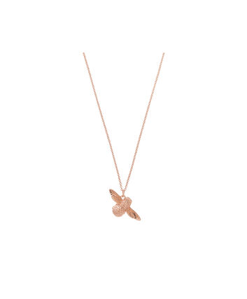 OLIVIA BURTON LONDON 3D Bee Pendant Necklace Rose GoldOBJ16AMN25 – 3D Bee Pendant Necklace - Front view