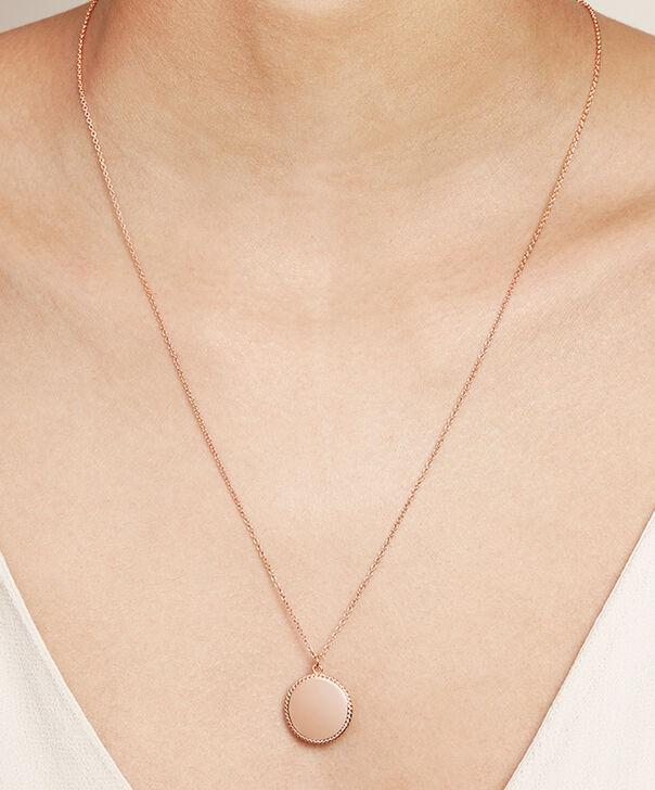 443f93db15f5 ... OLIVIA BURTON LONDON Engravables Disc Necklace Rose GoldOBJ16ENN11 –  Engravable Disc Necklace - Other view
