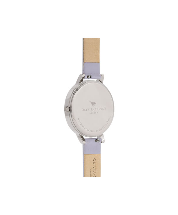 OLIVIA BURTON LONDON  White Dial Parma Violet, Rose Gold & Silver OB16BDW37 – Big Dial Round in Silver , Rose Gold and Parma Violet - Back view