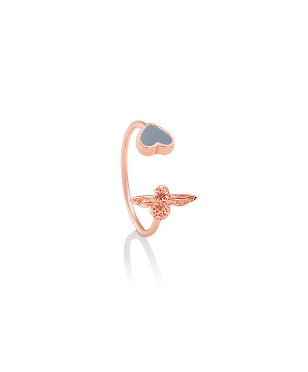 OLIVIA BURTON LONDON Love Bug Ring Grey & Rose GoldOBJLHR08 – SHOPBAG_LABEL - Side view