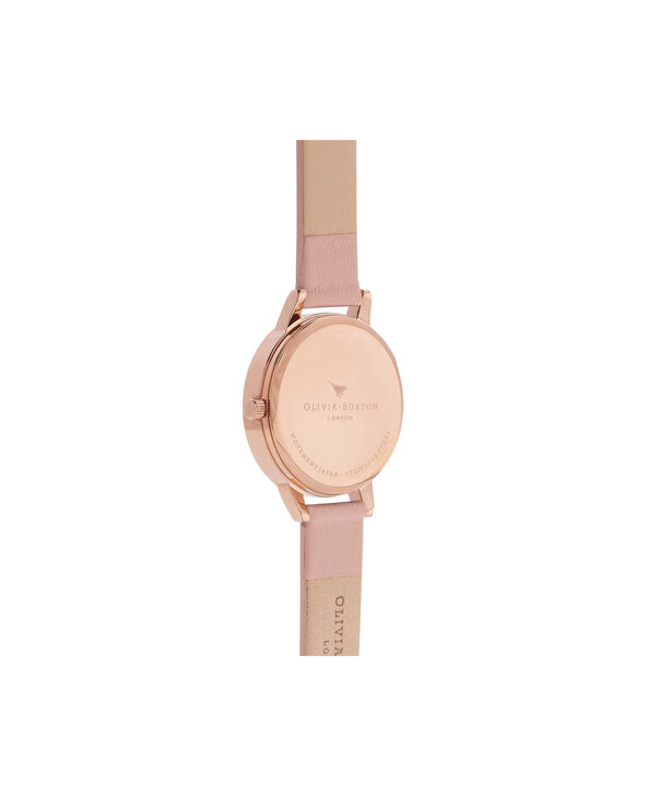 OLIVIA BURTON LONDON  Enchanted Garden Dusty Pink & Rose Gold Watch OB16EG56 – Midi Dial in White Floral and Pink - Back view