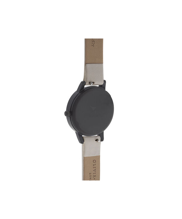 OLIVIA BURTON LONDON  After Dark Marble Floral Black & Rose Gold Watch OB16AD30 – Midi Round in Dark Floral and Rose Gold - Back view