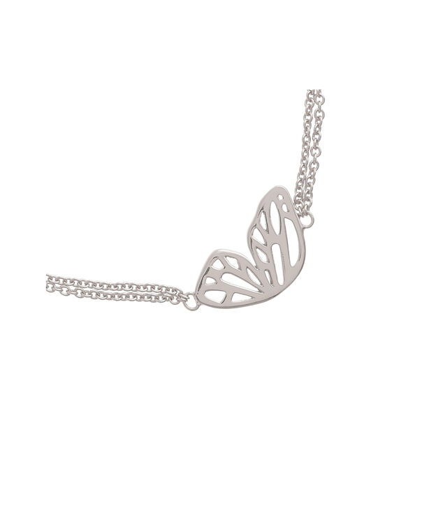 OLIVIA BURTON LONDON Butterfly Wing Chain Bracelet Silver OBJ16EBB03 – Butterfly Wing Chain Bracelet - Side view