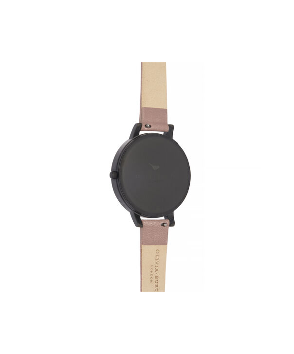 OLIVIA BURTON LONDON After Dark Big Dial Watch with Black Mother-Of-PearlOB16AD38 – Big Dial in pink and Black & Rose Gold - Back view