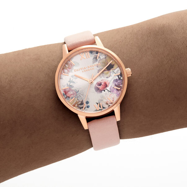 OLIVIA BURTON LONDON Sunlight Florals Dusty Pink & Rose GoldOB16EG115 – Sunlight Florals Dusty Pink & Rose Gold - Other view