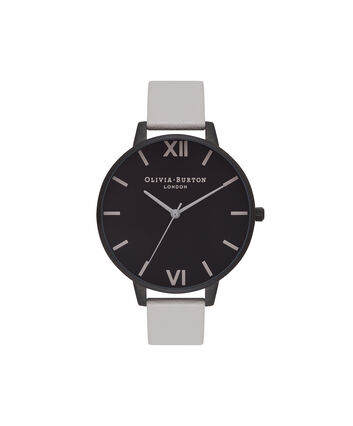 OLIVIA BURTON LONDON After DarkOB16AD04 – Big Dial Round in Black and Grey - Front view