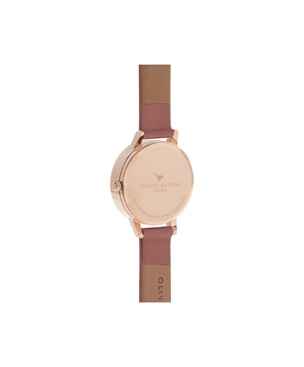OLIVIA BURTON LONDON  White Dial Rose & Rose Gold Watch OB16MDW03 – Midi Dial Round in White and Rose - Back view