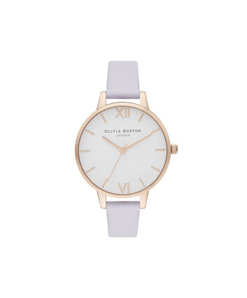 OLIVIA BURTON LONDON Demi White Dial Parma Violet & Pale Rose GoldOB16DE09 – Demi Dial In Parma Violet And Rose Gold - Front view