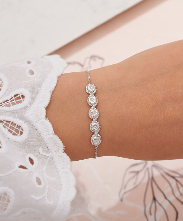 OLIVIA BURTON LONDON Flower Show Rope Chain Bracelet Silver OBJ16FSB12 – Floral Charm Chain Bracelet - Other view